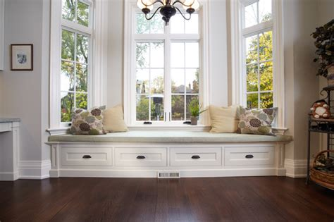 Window Bench Design by Built In Window Bench Traditional Living Room