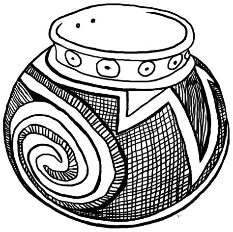 clay pot coloring pages coloring pages