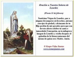Rincón de la Oración: Estampas Oraciones de Nuestra Señora de Lourdes