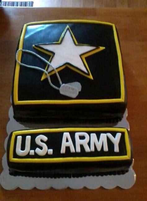 Army Going Away Cake