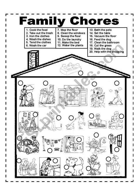 family chores family duties esl worksheet  marlonmark