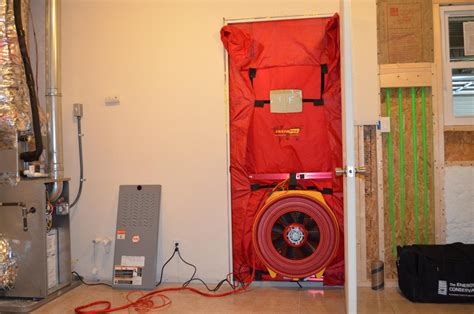 how much does a blower door test cost blower door test certification duct leakage testing