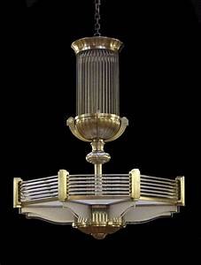 Art deco chandelier in a style similar to that of atelier