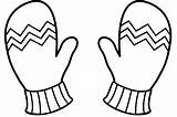 Clipart Mittens Outline Mitten Printable Gloves Winter Coloring Pages Webstockreview Sanfranciscolife sketch template