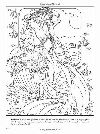 Coloring Pages Greek Goddess Aphrodite Adult Goddesses