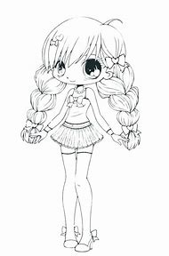 kawaii wolf girl coloring pages
