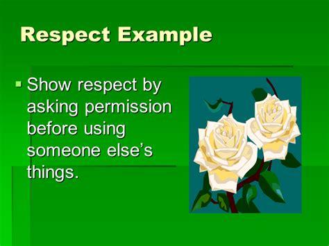 character education respect  english language