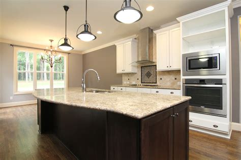 two tone kitchen cabinet ideas curved island front transitional kitchen raleigh