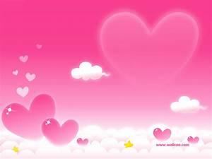 Valetine Cartoon Pink Hearts Clouds Love Desktop ...