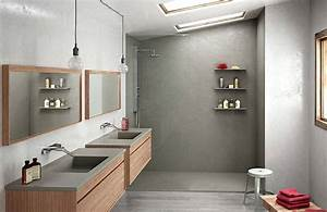 11 panneaux muraux etanches pour habiller la douche With stratifie mural salle de bain