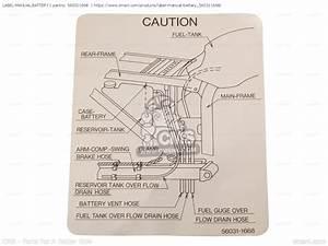 560311668  Label-manual Battery Kawasaki