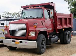 File 1989 Ford Ln8000 Diesel Dump Truck  Red Jpg