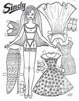 Dolls Paper Doll Printable Sindy Pages Activities Barbie Cut Coloring Crafts Toys Read sketch template