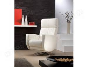 Fauteuil Blanc Pas Cher by Fauteuil Relaxation Rom Twist Fauteuil Relax Cuir Blanc