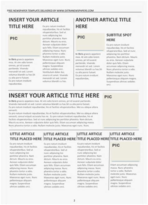 newspaper template word free newspaper template pack for word for school