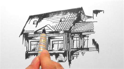 skizze  haus mit balkon sketch  home  balconyhd
