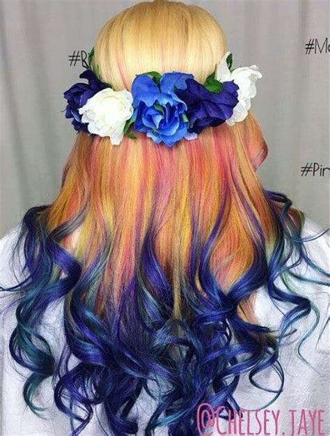 ombre colorful hair blue ombre dyed hair colorful hair
