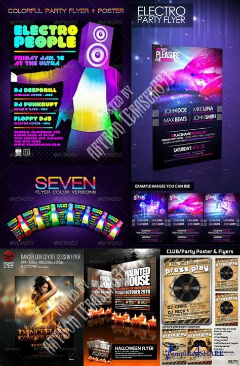 electro flyer poster template vol 4 torrent graphicriver flyers templates pack 3 187 templates4share