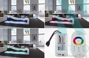 Canapé MIRAGE XXL ac éclairage LED NATIVO mobilier design