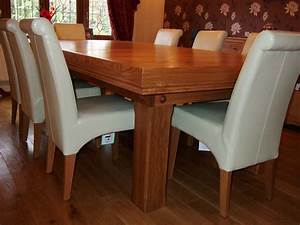 7ft, Snooker, Dining, Table, Made, Of, Oak, With, Blue, Cloth, U0026, Cover