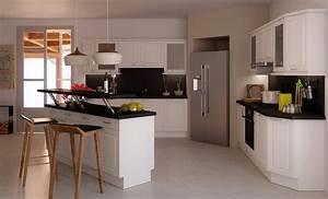 nouveau cuisine avec ilot table luxe design a la maison With modele de cuisine americaine avec ilot central