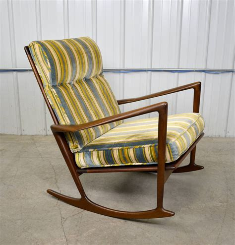 ib kofod larsen modern rocking chair at 1stdibs