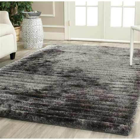 8x10 shag rug safavieh tufted silver 3d shag area rugs sg554c
