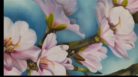 pintura flores oleo sobre lienzo