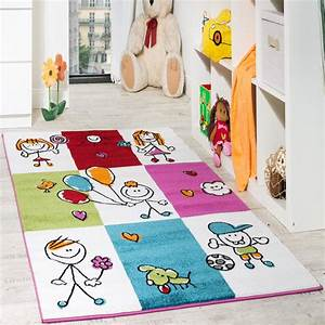 Teppich Für Essbereich : teppich kinderzimmer fr hliche kids in karo muster ~ Michelbontemps.com Haus und Dekorationen