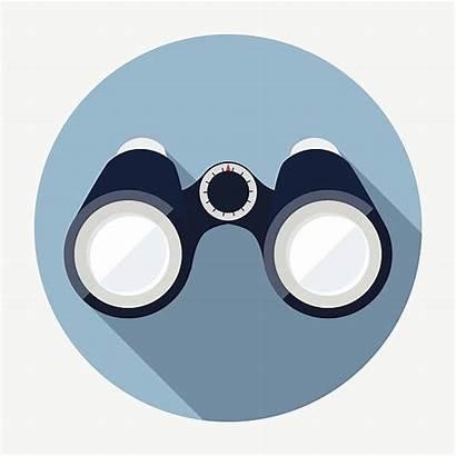 Binoculars Vector Icon Clip Illustration Illustrations Vectors