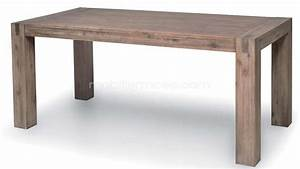 Table contemporaine en bois massif for Salle À manger contemporaine avec table a manger bois design