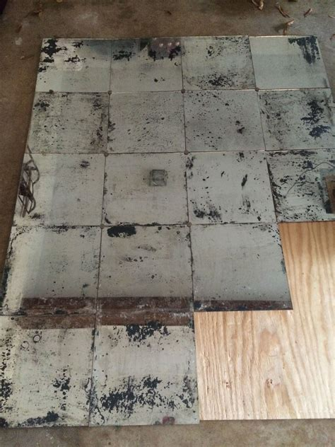 antique mirror tiles restoration hardware with rustic