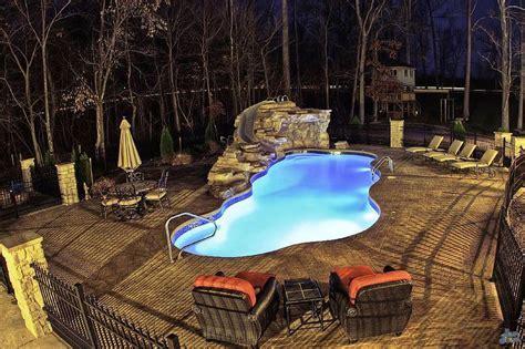 Small Stunning Inground Fiberglass Pools : Small Inground
