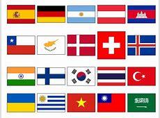 Mapa interactivo de Banderas del mundo Banderas de Países