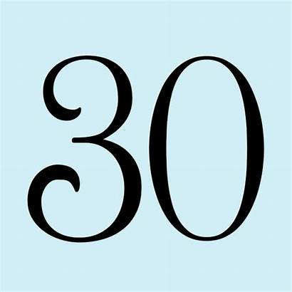 Anniversary 30th Gift Gifts Hallmark Numbers Designs