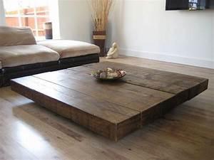 Table Basse Grande Taille : 10 grands mod les de table de caf pour votre salon ~ Teatrodelosmanantiales.com Idées de Décoration