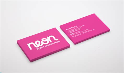 30 Examples Of Neon Business Cards Elegant Business Card Psd Free Best Font For Logo Fashion Download In .psd Format Medical Restaurant Beauty Salon Lucite Holders