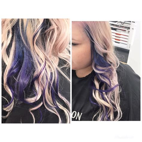 Blue To Purple Underneath Color Melt With A Violet