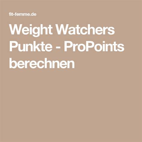 weight watchers punkte propoints berechnen sport