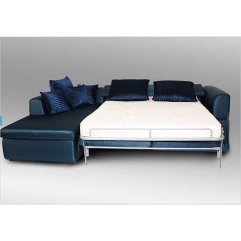 canapé d angle bleu canapé d 39 angle gauche convertible design cap tissu bleu