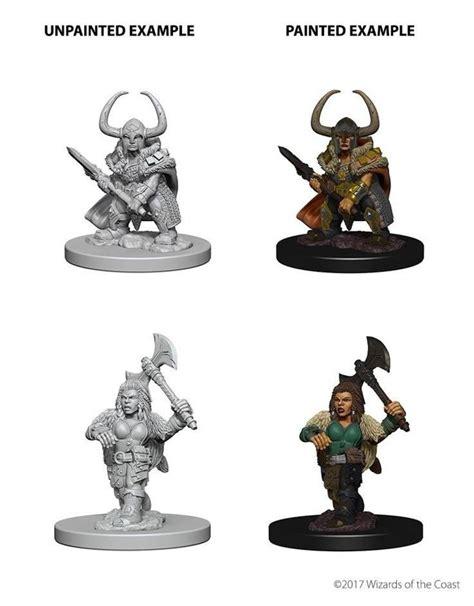 buy dwarf female barbarian  nolzurs marvelous miniatures wizards   coast goblin gaming