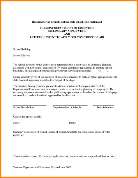 subcontractor letter  intent template samples letter