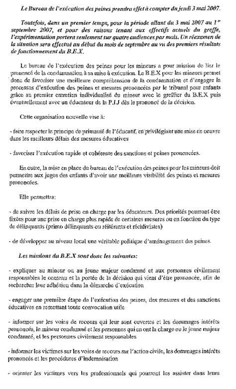 bureau execution des peines n 3515 rapport d 39 information de m michel zumkeller