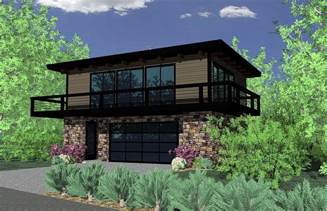 petite contemporary home plan ms architectural