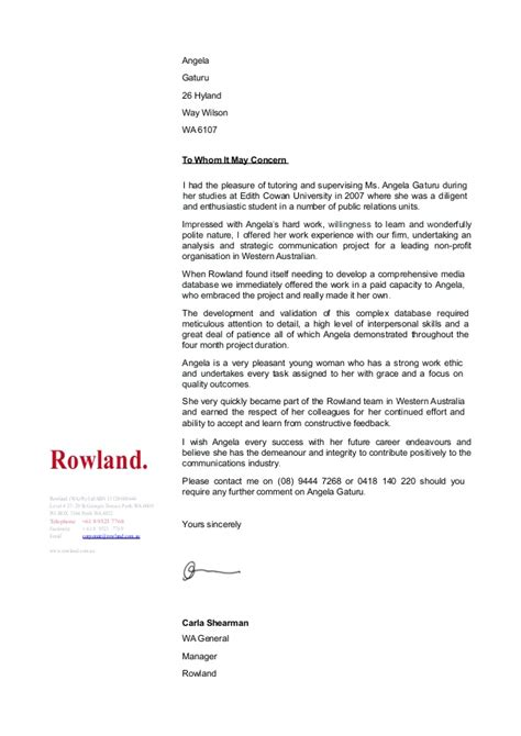 Dentistry Work Experience Letter by Work Experience Recommendation Letter
