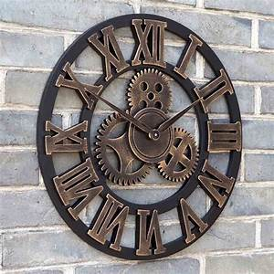 Grande Horloge Murale Originale : htf 60 cm d coratif horloge murale magasin de achat vente horloge pendule cdiscount ~ Teatrodelosmanantiales.com Idées de Décoration