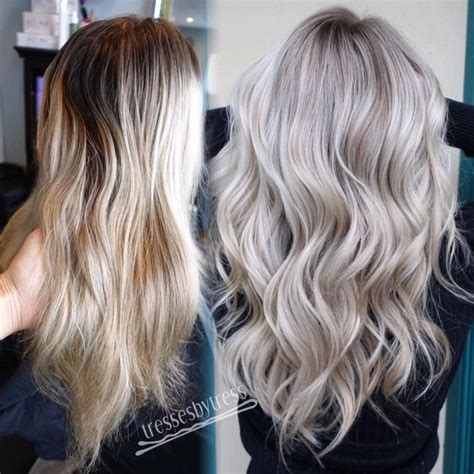 trendy hair color ideas  platinum blonde hair