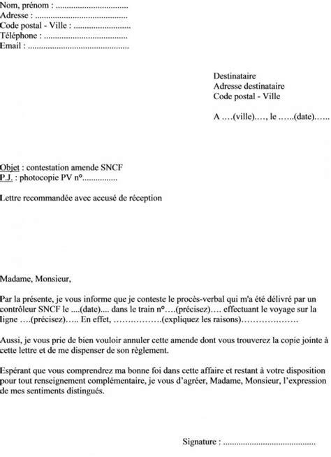 lettre type contestation amende lettre type contestation amende stationnement modele de lettre type