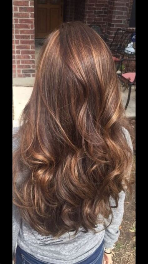 hair colorstyle light brown  highlights cute