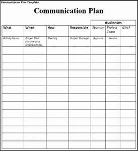 Communication Plan  Communication Plan Matrix Sample